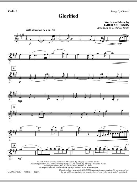 Glorified - Violin 1 (Choir Instrumental Pak)