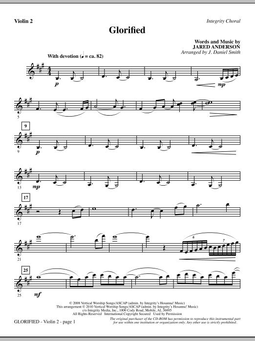 Glorified - Violin 2 (Choir Instrumental Pak)