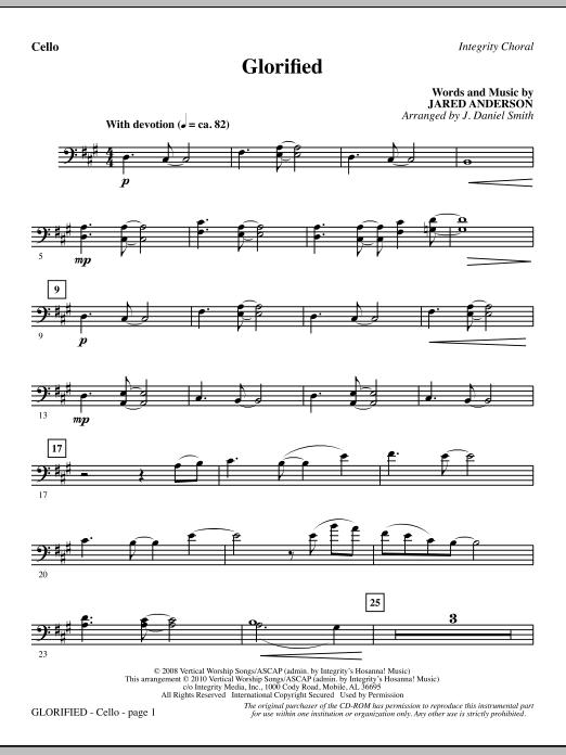 Glorified - Cello (Choir Instrumental Pak)