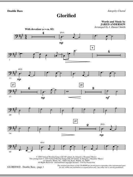 Glorified - Double Bass (Choir Instrumental Pak)