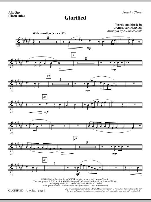 Glorified - Alto Sax (Horn sub.) (Choir Instrumental Pak)