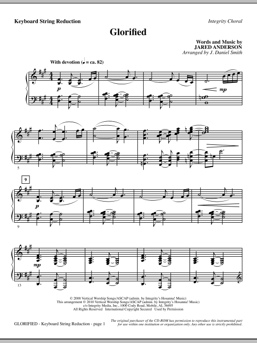 Glorified - Keyboard String Reduction (Choir Instrumental Pak)