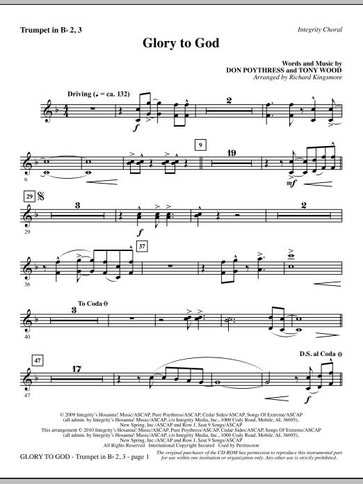 Glory To God - Trumpet 2 & 3 (Choir Instrumental Pak)