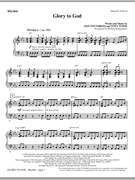 Glory To God - Rhythm (Choir Instrumental Pak)