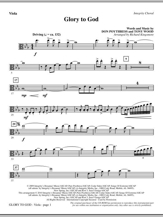 Glory To God - Viola (Choir Instrumental Pak)