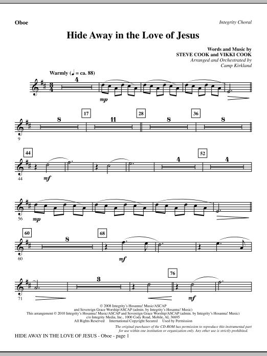 Hide Away In The Love Of Jesus - Oboe (Choir Instrumental Pak)