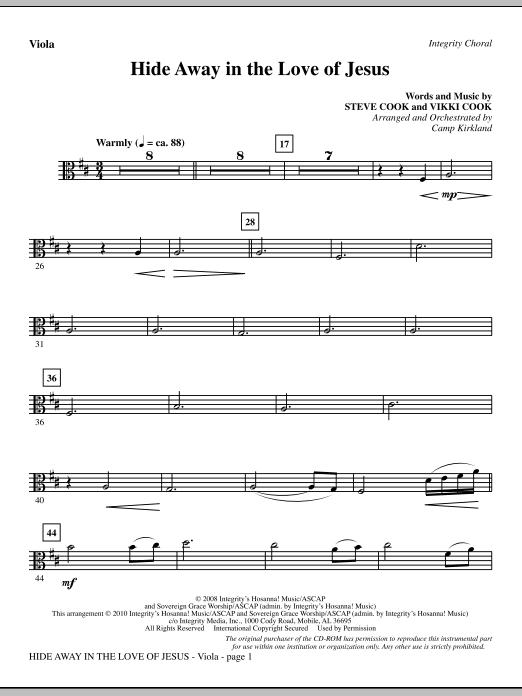 Hide Away In The Love Of Jesus - Viola (Choir Instrumental Pak)