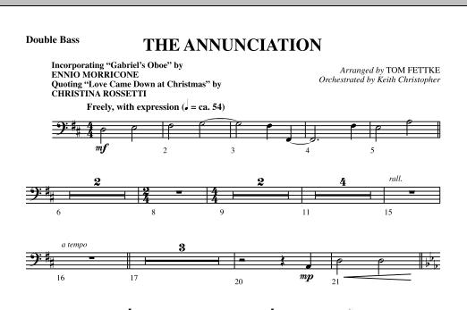 The Annunciation (incorporating Gabriel's Oboe) - Double Bass (Choir Instrumental Pak)