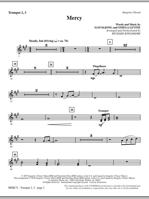 Mercy - Trumpet 2 & 3 Sheet Music