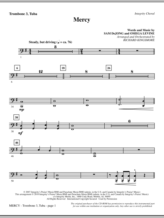 Mercy - Trombone 3/Tuba Sheet Music