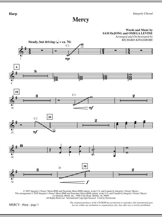 Mercy - Harp (Choir Instrumental Pak)