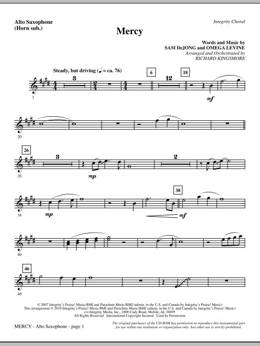 Mercy - Alto Sax (sub. Horn) (Choir Instrumental Pak)