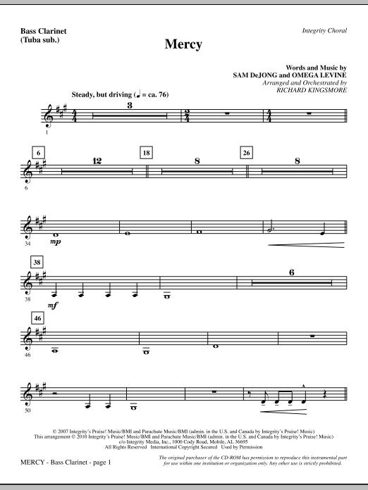Mercy - Bass Clarinet (sub. Tuba) Sheet Music