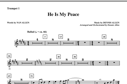 He Is My Peace - Trumpet 1 (Choir Instrumental Pak)