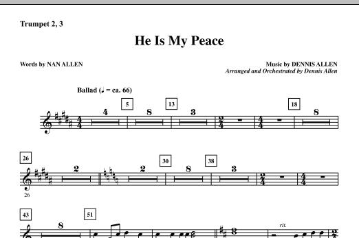 He Is My Peace - Trumpet 2 & 3 (Choir Instrumental Pak)
