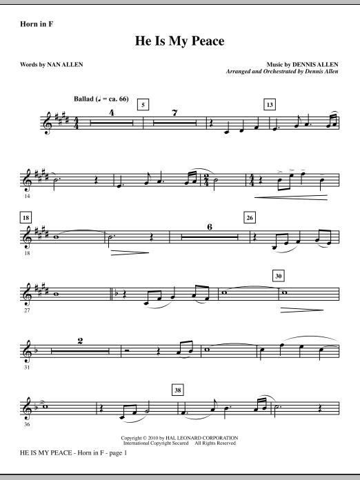 He Is My Peace - F Horn (Choir Instrumental Pak)