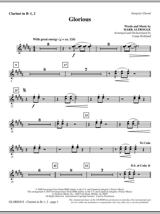 Glorious - Clarinet 1 & 2 (Choir Instrumental Pak)