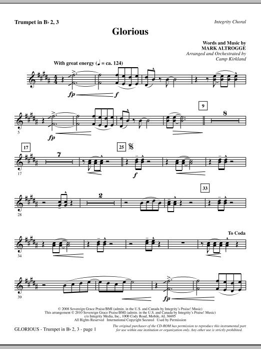 Glorious - Trumpet 2 & 3 Sheet Music