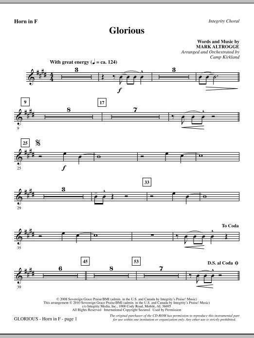 Glorious - F Horn (Choir Instrumental Pak)