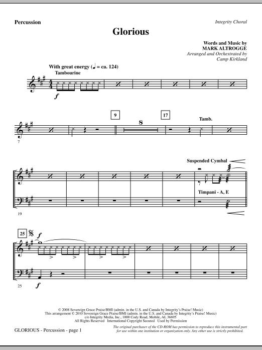 Glorious - Percussion Sheet Music