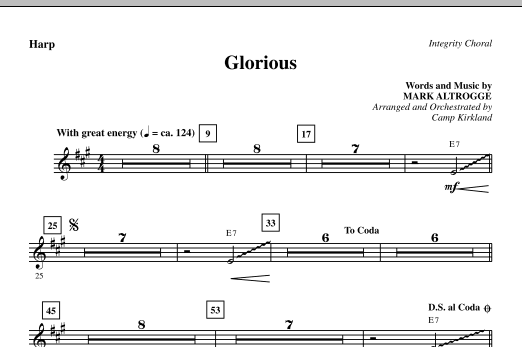 Glorious - Harp Sheet Music