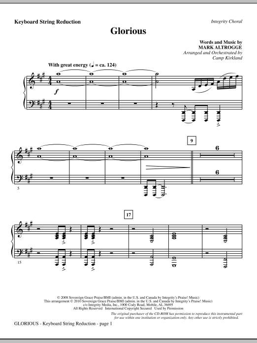 Glorious - Keyboard String Reduction (Choir Instrumental Pak)