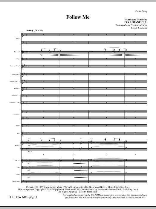 Follow Me - Full Score (Choir Instrumental Pak)