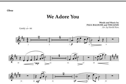 We Adore You - Oboe Sheet Music