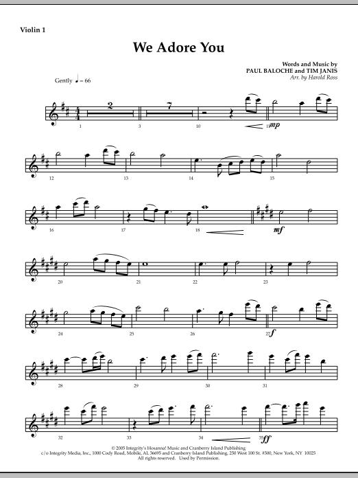 We Adore You - Violin 1 (Choir Instrumental Pak)
