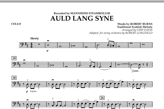 Auld Lang Syne - Cello (Orchestra)