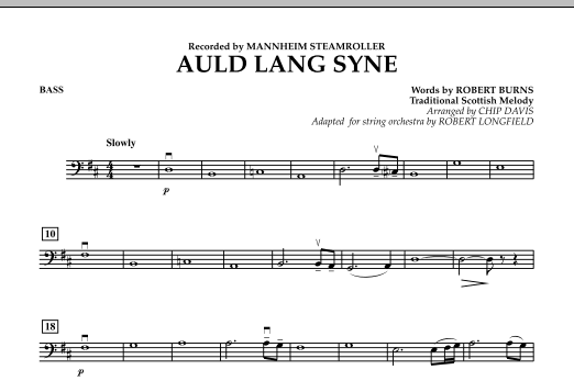 Auld Lang Syne - Bass (Orchestra)