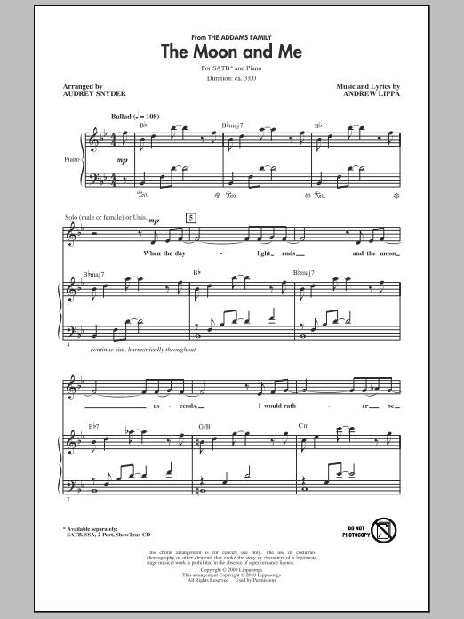 The Moon And Me (SATB Choir)