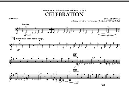 Celebration (Mannheim Steamroller) - Violin 1 (Orchestra)