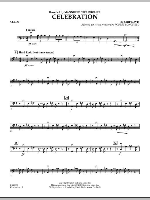 Celebration (Mannheim Steamroller) - Cello (Orchestra)