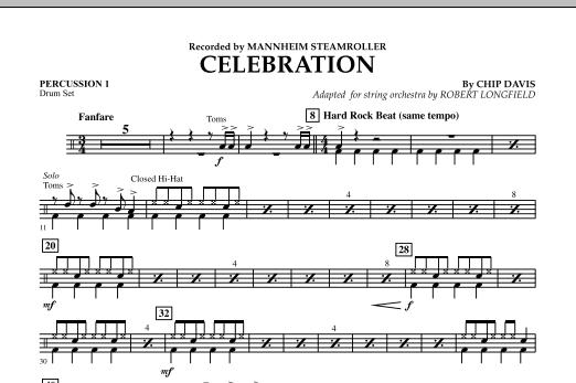 Celebration (Mannheim Steamroller) - Percussion 1 (Orchestra)