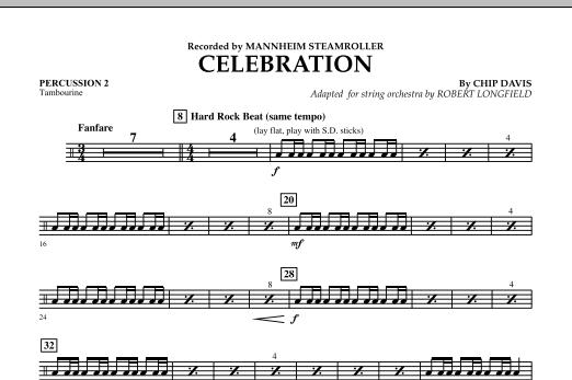 Celebration (Mannheim Steamroller) - Percussion 2 (Orchestra)