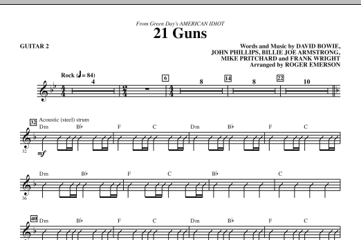 21 Guns From Green Days American Idiot Guitar 2 Sheet Music