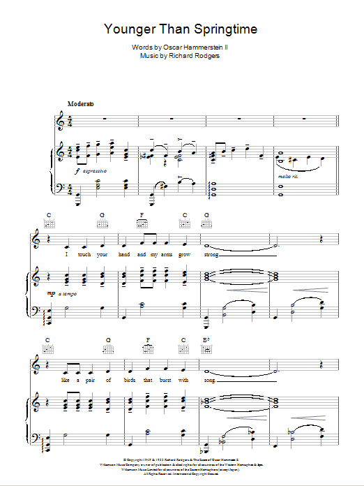 Younger Than Springtime (from South Pacific) Sheet Music