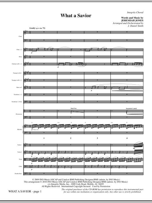 What A Savior - Full Score (Choir Instrumental Pak)