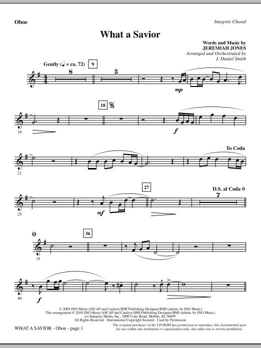 What A Savior - Oboe (Choir Instrumental Pak)