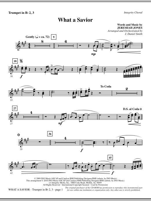 What A Savior - Trumpet 2 & 3 Sheet Music