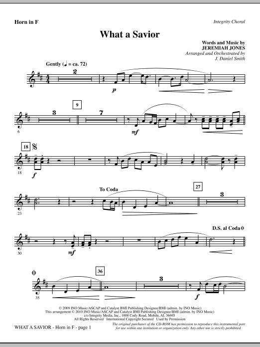 What A Savior - F Horn Sheet Music