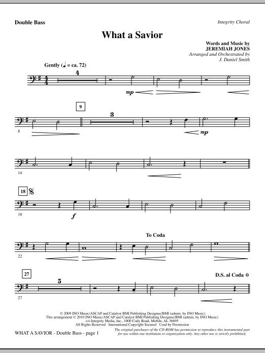 What A Savior - Double Bass (Choir Instrumental Pak)