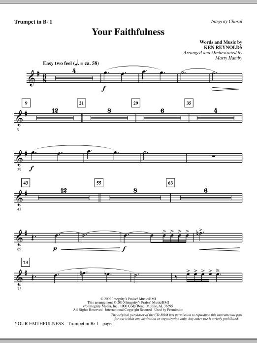Your Faithfulness - Trumpet 1 (Choir Instrumental Pak)