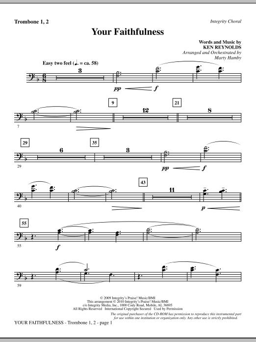 Your Faithfulness - Trombone 1 & 2 (Choir Instrumental Pak)