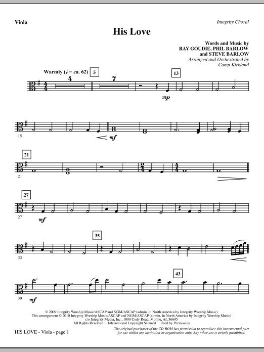 His Love - Viola (Choir Instrumental Pak)