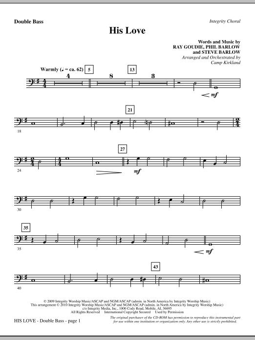 His Love - Double Bass (Choir Instrumental Pak)