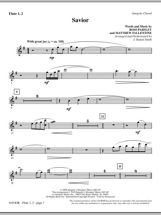 Savior - Flute 1 & 2 (Choir Instrumental Pak)