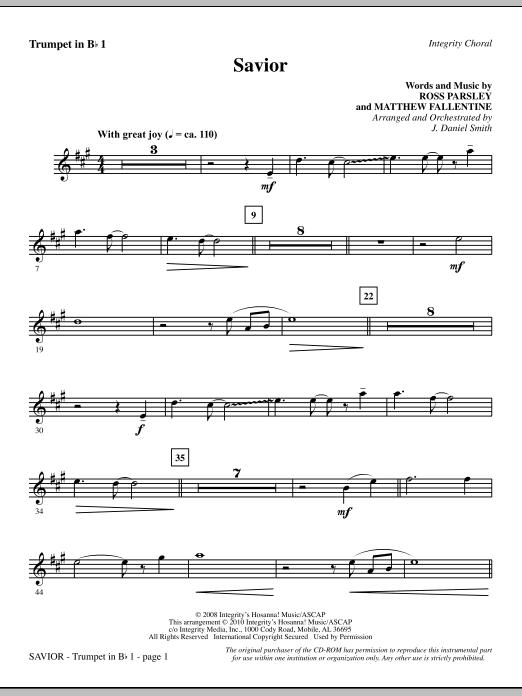 Savior - Trumpet 1 Sheet Music