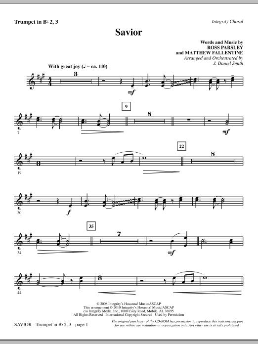 Savior - Trumpet 2 & 3 Sheet Music
